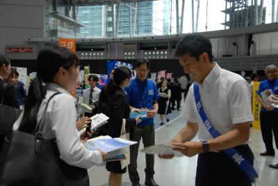 The mayor who emphasizes Toda City