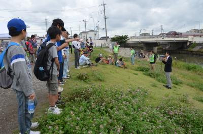 Photograph of Sasame River cleaning event