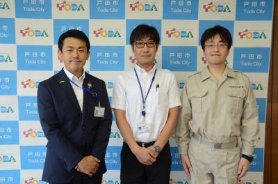 西日本暴雨災區員工派遣出發式